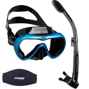 Kit de Mergulho Máscara+Respirador Cressi A1 Anti Fog + Supernova Dry + Strap