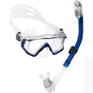 Kit de Mergulho Máscara+Respirador Cressi Pano 3 & Supernova Dry