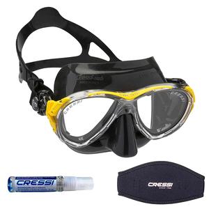 Máscara de Mergulho Cressi Eyes Evolution + Anti Fog Sea Gold + Strap