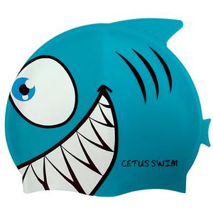 Touca de Silicone para Natação Cetus Peixe