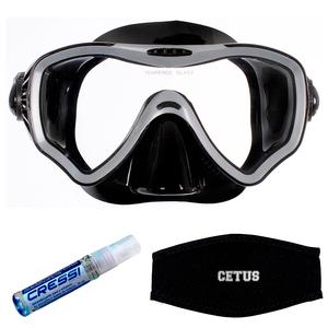 Máscara de Mergulho Cetus New Parma Pro + Anti Fog Sea Gold +Strap