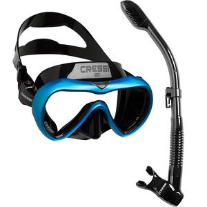 Kit de Mergulho Máscara+Respirador Cressi A1 Anti Fog + Supernova Dry