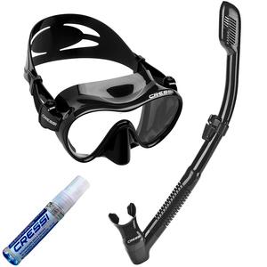 Kit de Mergulho Máscara+Respirador Cressi Frameless + Supernova Dry + Anti Fog Sea Gold