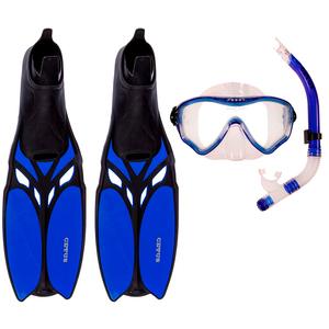 Kit de Mergulho Máscara+Respirador+Nadadeira Cetus Cobia Pro Blue