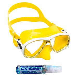 Máscara de Mergulho Cressi Marea Color + Anti Fog Sea Gold