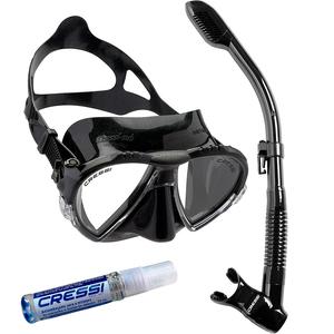 Kit de Mergulho Máscara+Respirador Cressi Matrix + Supernova Dry + Anti Fog Sea Gold