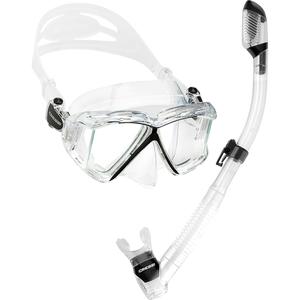 Kit de Mergulho Máscara+Respirador Cressi Pano 4 & Supernova Dry