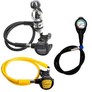 Conjunto de Regulador para Mergulho Cressi AC2 Compact + Octopus Compact + Manômetro