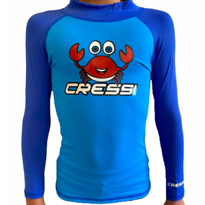 Camiseta de Proteção UV50 Cressi Rash LS Kids Blue