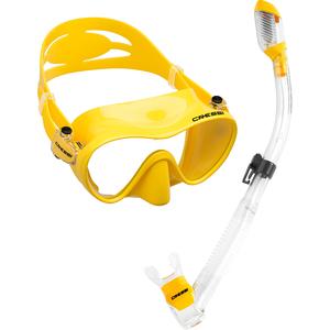 Kit de Mergulho Máscara+Respirador Cressi Frameless + Supernova Dry