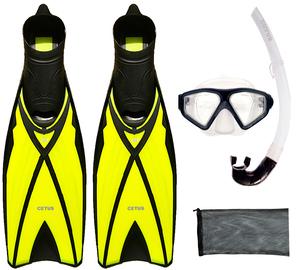 Kit De Mergulho Máscara+nadadeira+snorkel Cetus - Close Out