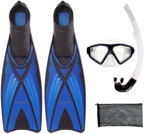 Kit De Mergulho Máscara+nadadeira+snorkel Cetus
